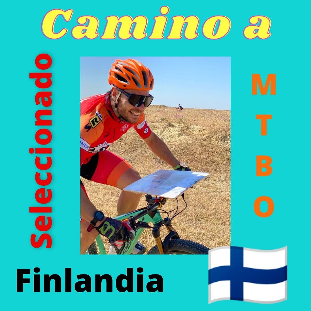 Juanfra Marín en camino a Campeonato del Mundo de orientación en bicicleta