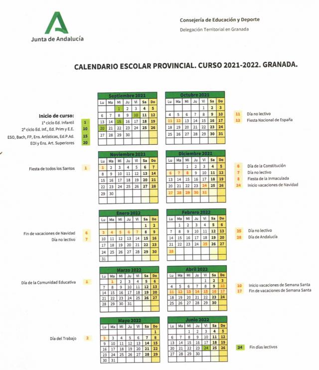 Nuevo curso escolar 2021/2022